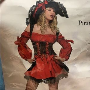 Leg Avenue Vixen Pirate Wench Costume Size Med